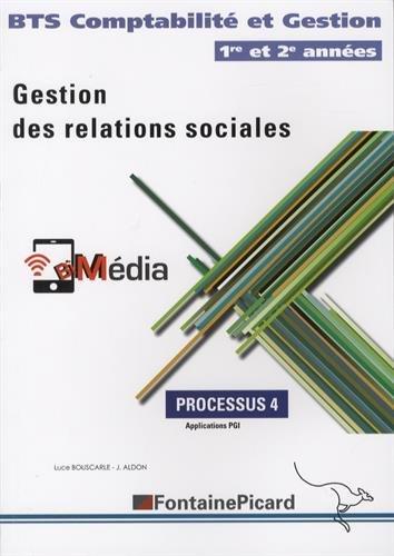 Gestion des relations sociales BTS Comptabilité et Gestion 1re et 2e années : Processus 4, Application PGI