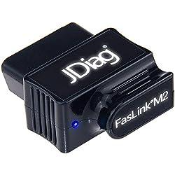 JDiag FasLink M2 OBD2 Lector de Código Profesional escáner de diagnóstico de Coche OBDII Herramienta de Análisis Bluetooth 4.0 para iPhone y Android