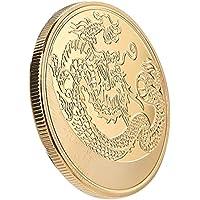 Dragón Challenge monedas chino colección conmemorativa negocios y vacaciones decoración regalos