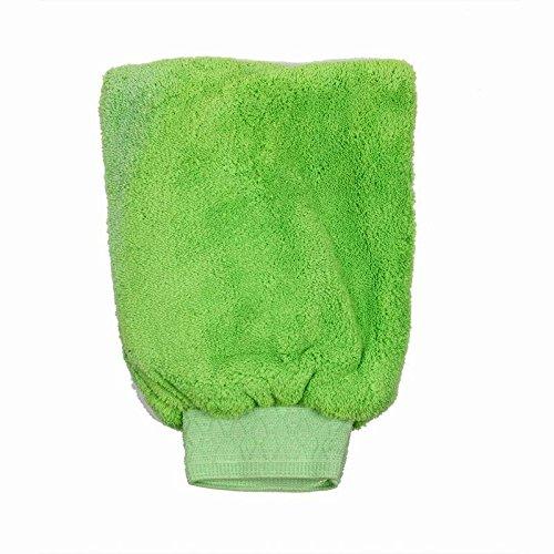 KDGWD guanto lavaggio morbido pacchetto da 10 panni privi di lucidatura extra large di lavaggio dimensioni ciniglia microfibra Mitt zero ad alta densità gratis