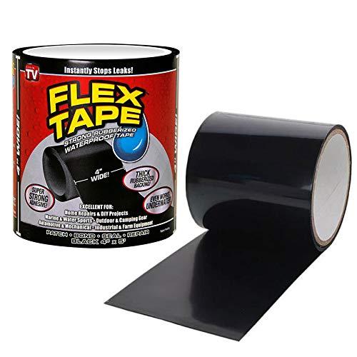 Shop-STory Flex Tape, wasser- und wasserfest, sehr strapazierfähig, Schwarz