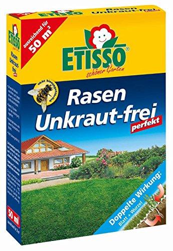 ETISSO® Rasen Unkraut-frei perfekt 50 ml für 50 m² - Unkrautvernichter Herbizid