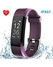 HolyHigh Smart Fitness Band 115Plus Tracker Watch with Heart