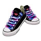 Wasserdichte LED-Schnürsenkel in verschiedenen Farben: grün, rot, gelb, orange, blau, pink, gelb/grün, blau/pink, grün/pink, mehrfarbig, hochwertig rosa / blau