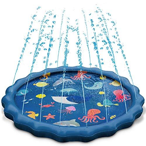 Splash Play Mat, Uiter Tapete de Aprendizaje para Salpicar con Rociadores para Actividades al Aire Libre...