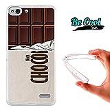 Becool® Fun - Funda Gel Flexible para Vodafone Smart Ultra 6 .Carcasa TPU fabricada con la mejor Silicona, protege y se adapta a la perfección a tu Smartphone y con nuestro diseño exclusivo Tableta de chocolate negro