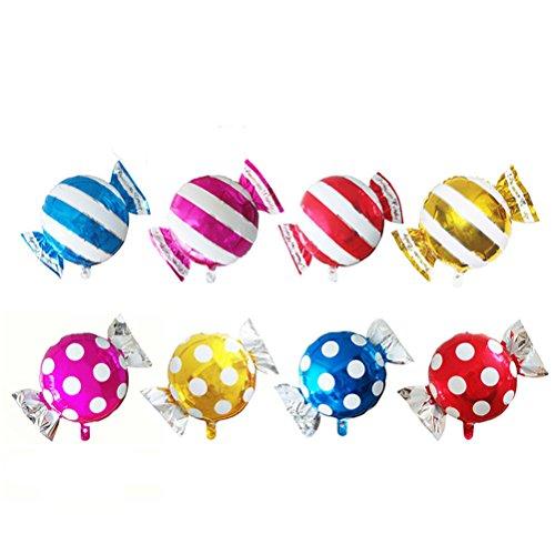 TOYMYTOY Luftballons Aluminium Süßigkeit Lutscher Folie Balloons für Party Kinder Geburtstag Dekoration Hochzeit 8 Stück