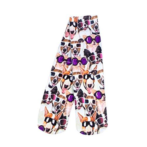 miss-moda-perro-y-sr-perro-arte-foto-medias-calcetines-de-deporte-suave-comoda
