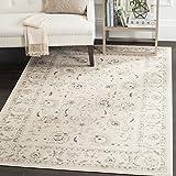 Safavieh Avignon Gewebter Teppich, VTG432D, Hellgrau/Elfenbein, 154 X 231 cm