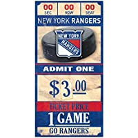 WinCraft New York Rangers NHL Ticket Schild