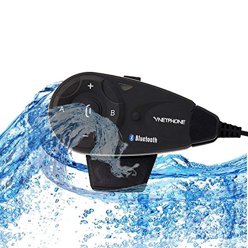 IKVRU Intercom, Motorcycle Communication Systems Helm Bluetooth Headset Intercom für Mikrofon Scooter Skiing Communication walkie-Talkie-800M/2-5Rider-Pack 1 2 Headset Pack