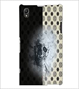 PrintDhaba Skull D-4942 Back Case Cover for SONY XPERIA Z1 (Multi-Coloured)