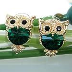 lovely gift earring Swarovski stone 18k gold plated fashion owl earring stud for girls ladies
