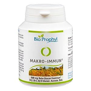 BioProphyl® Makro-Immun – 500 mg natürliches Yestimun® Beta Glucan mit natürlichem Vitamin C und Zink – qualitativ hochwertig – zur Unterstützung des Immunsystems und den Abwehrkräften – 60 pflanzliche Kapseln