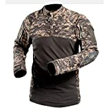 Honestyi Männer Tactics Army Langhülse Muskelle Grundlegende Solide Bluse T Shirt Top(Gelb,Armeegrün,Schwarz,Dark Grau,Grau,Khaki,S/M/L/XL/2XL/3XL)