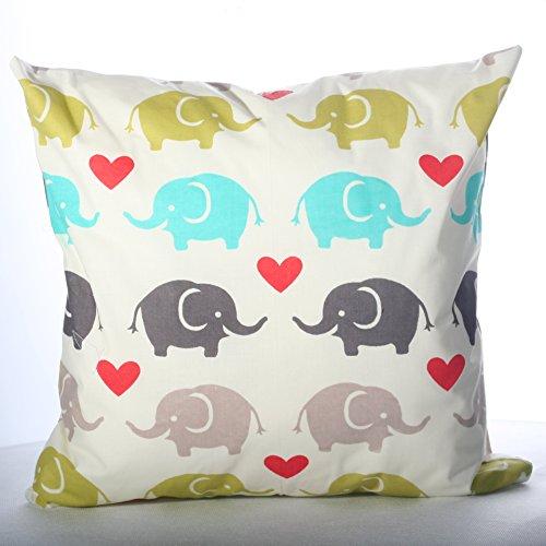 4L Textil - Funda de cojín (100% algodón, 40 x 40 cm,...