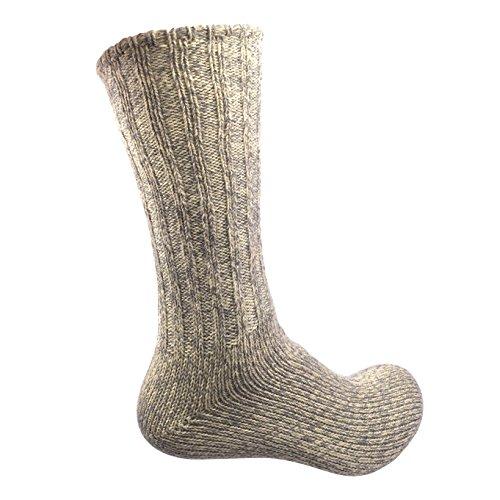 Trachtenstrümpfe, Trachtensocken, Socken, Kniestrümpfe mit Zopfmuster in verschiedenen Farben, von CHARLLEAN (39-42, Beige)