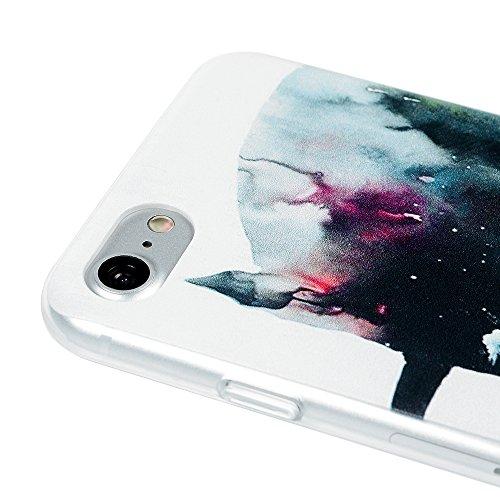 Badalink Coque iPhone 7, Case Housse Étui Bumper Coque Protection PC Plastique Rigide Dur Ultra Mince Slim Léger Anti Rayure Antichoc Housse Étui iPhone 7 Coque Case Motif Chat Licorne
