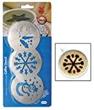 Snowman Design Stainless Steel Coffee Stencil, 3 Design, 1 Piece