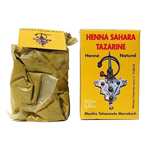 HENNE Lawsonia inermis SAHARA TAZARINE HENNA Naturale 100% PURO Henné - Colorazione Capelli