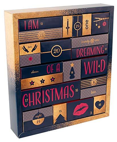 Adventskalender 2018 – erotischer Weihnachtskalender für Erwachsene, perfekte Geschenkidee, 24 Türchen mit Sex-Toys, Dessous, Kondomen, Gleitgel und vielem mehr