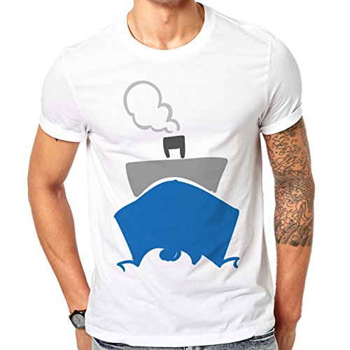 Cosmopolitan Lifestyle Travel Time With Crouse Ship Herren T-Shirt Weiß