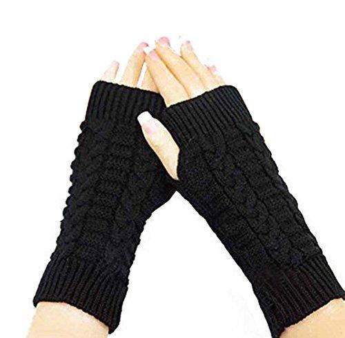 rlos Winter Kurz, Elastic Stretch Winter Herbst warme Handschuhe für Damen Frauen Mädchen, schwarz (Baby-militärischen Outfits)