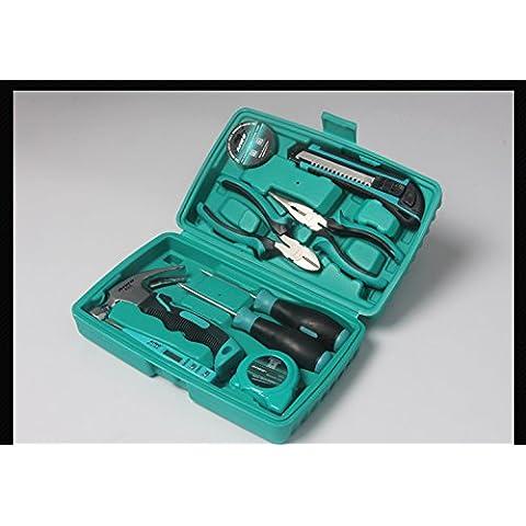 olayer 10in 1Set di utensili a mano kit casa fai da te Chiave Cacciavite Strumento Righello pinze coltello - Kit Pinza Chiave