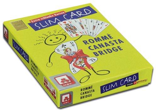 Nürnberger-Spielkarten 6023 - Juego de Cartas para Canasta (2 x 55 Cartas con Portada), Color Verde