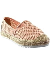 Donna Fermacapelli Basse Scivolosi Sandali Slip On Sabot Pantofola Scarpe Estive Taglia - Pastello Rosa Satin, 38