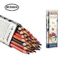 US Sense Crayons de Couleur Effet Aquarelle 36 Couleurs -Spécial Rentrée des Classes Pack de Art Dessin Crayons de coloriage