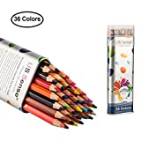 36 Art Drawing Coloured Pencils Set Artist Sketch Watercolour Pencil for Colouring Books by US Sense