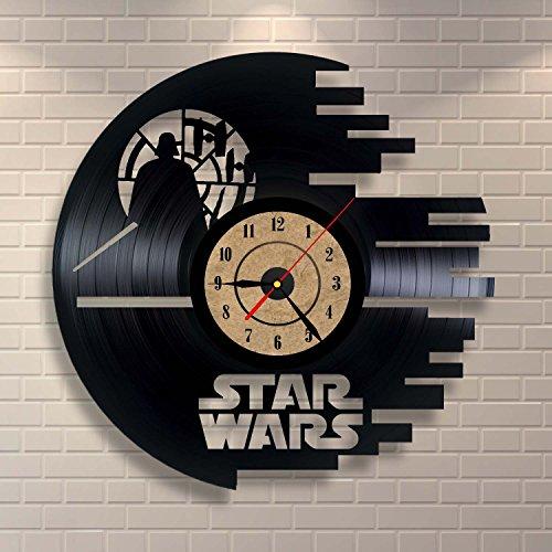 Fesselnd Vinyl Wanduhr Star Wars Design Home Decor Geschenk (Haushaltswaren)