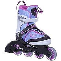K2 Mädchen Inline Skates Cadence Mehrfarbig - ABEC 3 Kugellager Softboot - Größe Verstellbar 32-37- Kinder Inlineskates