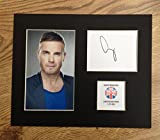LIMITED EDITION GARY BARLOW FULLY SIGNED DISPLAY PRINTED AUTOGRAPH AUTOGRAPH AUTOGRAF AUTOGRAM SIGNIERT SIGNATURE MOUNT FRAME
