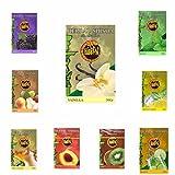 9 Paquete x 50g Sabor SURTIDO Hibron Hierba Para Shisha Cachimba Sin Nicotina Kit 2