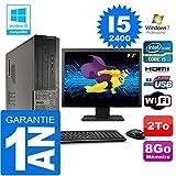 Dell PC 3010 DT Core I5-2400 Ram 8Go Disque 2 to WiFi W7 Ecran 19' (Reconditionné Certifié Grade A)