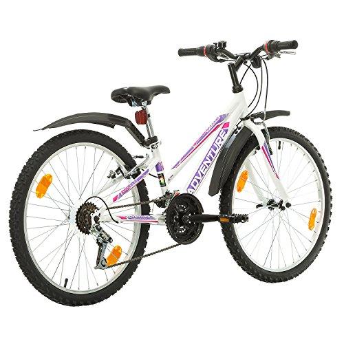 51RELNVACIL. SS500  - Multibrand, PROBIKE ADVENTURE, 24 inch, 290 mm, Mountain Bike, 18 speed, Mudgard Set, For Women, Kids, Juniors, White