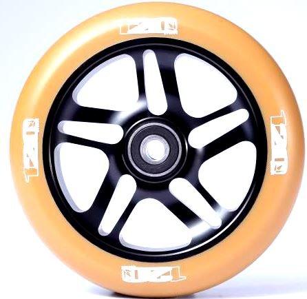 Blunt 120mm Stunt-Scooter Wheel Rolle + ABEC 9 Kugellager + Fantic26 Sticker (Schwarz/Gum)