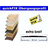 quickFIX Übergangsprofil extra breit 100x3,8 cm in Walnuss dunkel