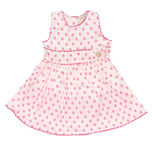 New 4 New Pink Cotton Frocks For Girls( Pack Of 1)