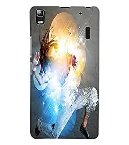 ColourCraft Dancing Girl Design Back Case Cover for LENOVO K3 NOTE