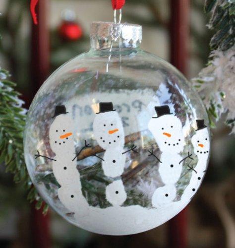 Child to Cherish Snow Globe Hand Print Ornament Kit by Child to Cherish