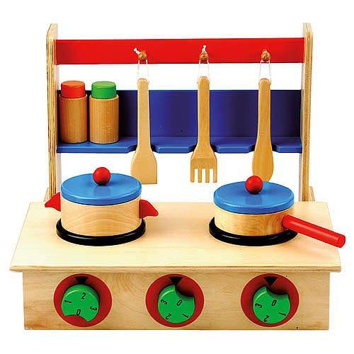 Mertens - cucina da tavolo in legno, colore: multicolore