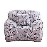 Sofa Überwürfe 1/2/3/4 Sitzer Sofabezug Sofaüberwurf Stretch weich elastisch Blumen-Muster,#7-1 Sitzer: 90-140 cm