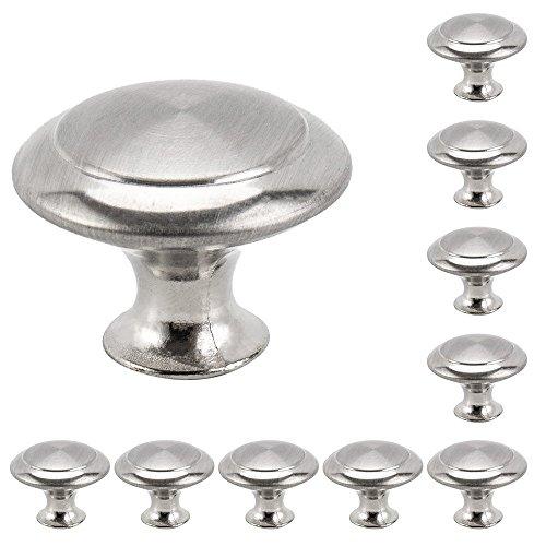 suiez 10Stück rund Küche Kabinett Knöpfe Schublade Kommode Griffe Küche Schrank, runde zieht Hardware Diameter - 0.9in -