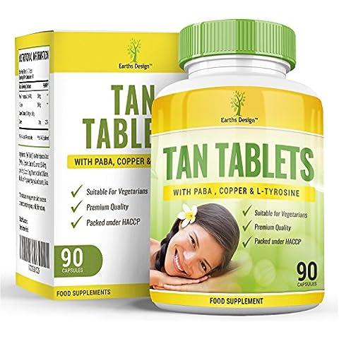 Pillole abbronzanti, acceleratore naturale di abbronzatura con tirosina, PABA e