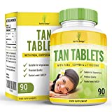 Tan Tablets - With Tyrosine, PABA and Copper - 90 Tablets (2 Month Supply) by Earths Design