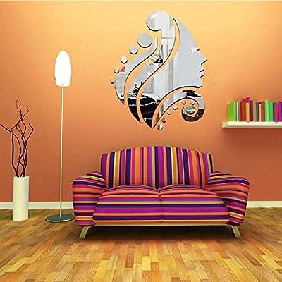 RONGXINUK Mirror Wall Sticker Vinyl Art Wall Sticker Home Decor - low-cost UK light shop.