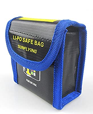 Anbee Lipo Battery Safe Bag Fireproof Guard for DJI Spark Drone by Anbee